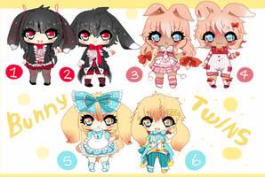 Kemonomimi Twins 1  - Bunny - Closed by Ayuki-Shura-Nyan