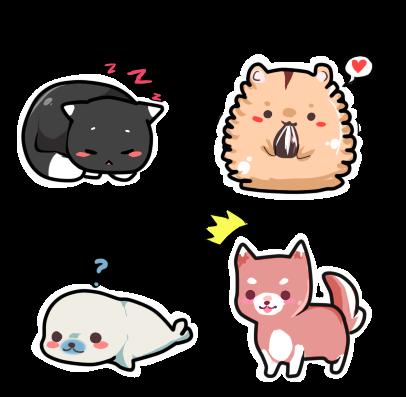 Practicing:  Kawaii Stickers by Ayuki-Shura-Nyan