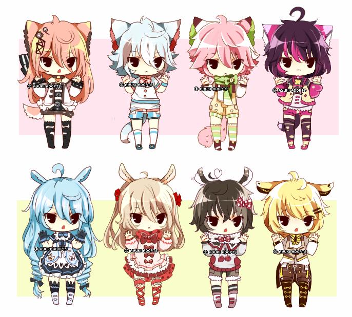 Kemonomimi Adopts - CLOSED by Ayuki-Shura-Nyan