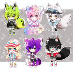 Kemonomimi Adoptables set #1- CLOSED