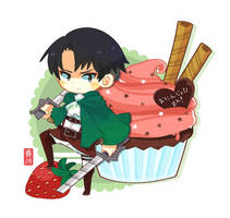 Attack on b-day cupcake by kiwi-berry