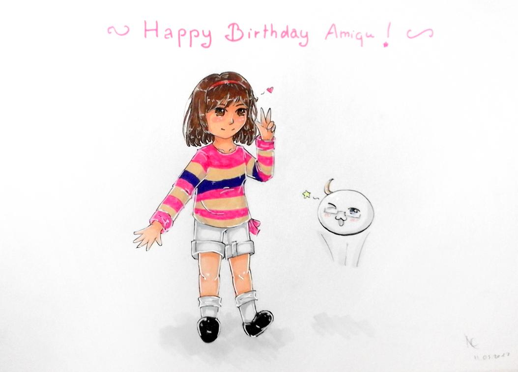 Happy Birthday Amiqu ! by Pugishka