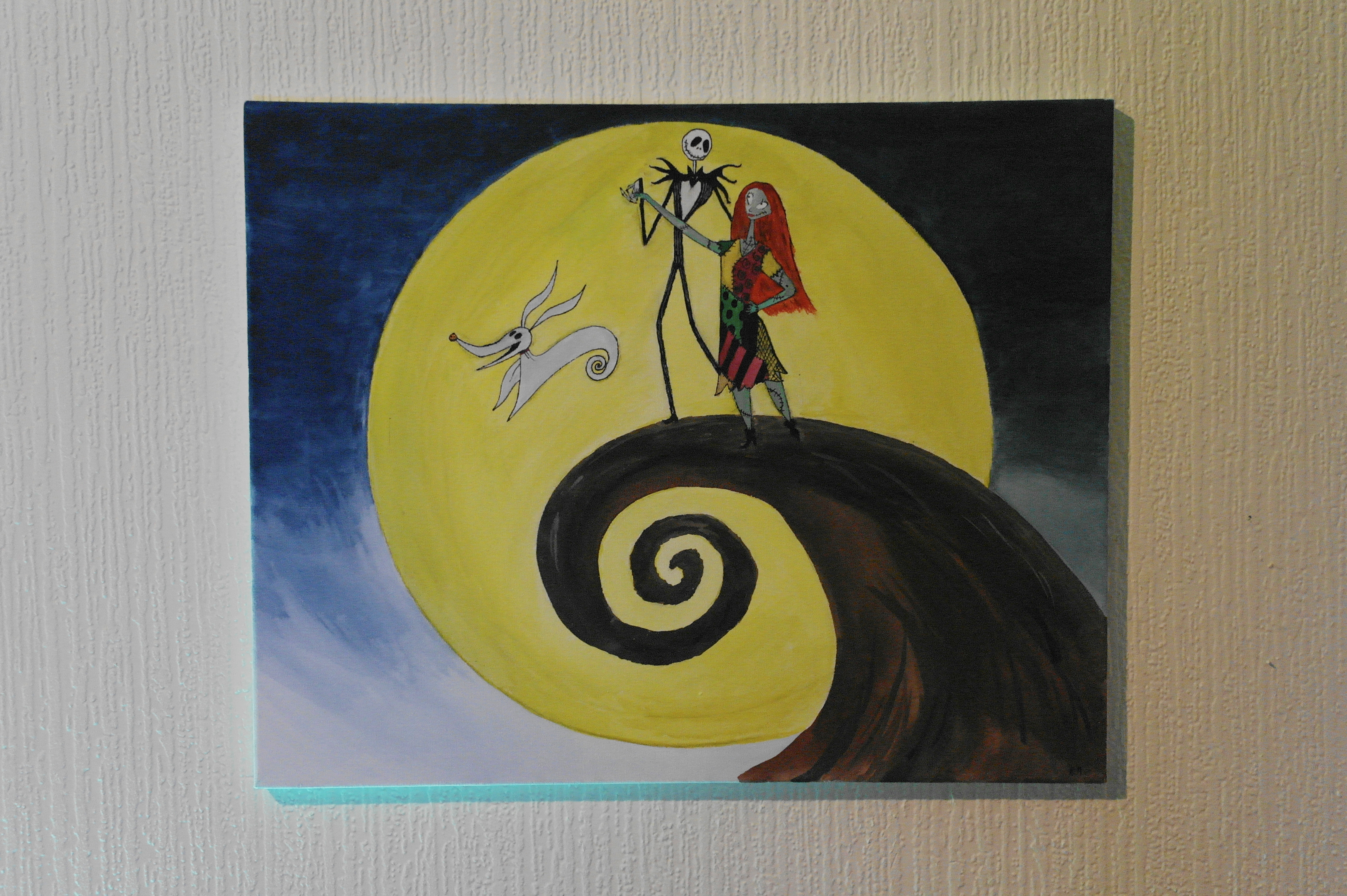 Contemporary Nightmare Before Christmas Wall Art Motif - Wall Art ...