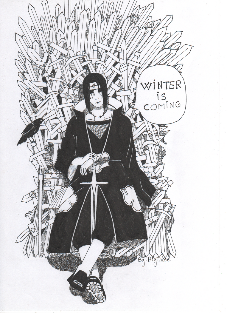 .:Itachi- Game of Thrones:. by By-Blythlee