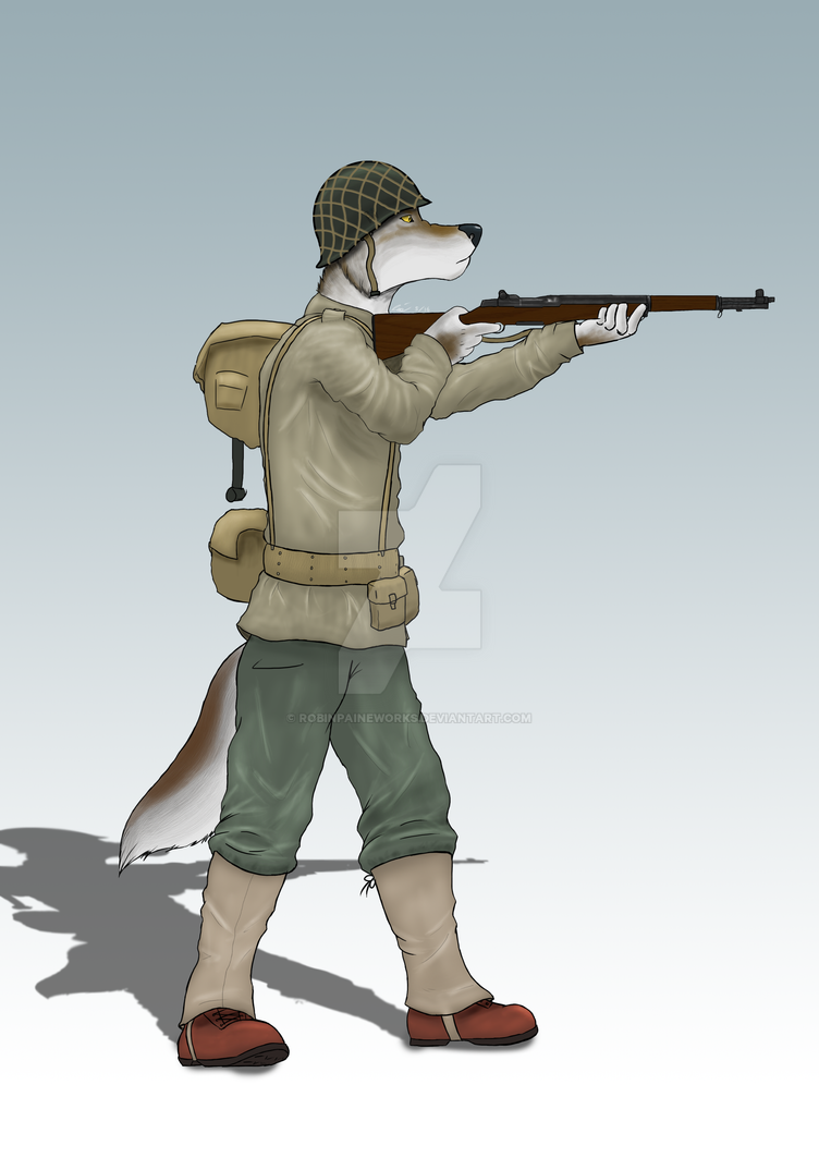 World War Wolf by RobinPaineWorks