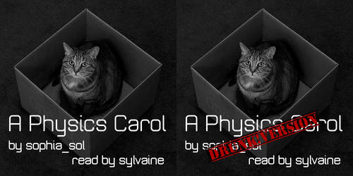 A Physics Carol Cover (both versions) by thriceandonce
