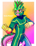[CM] Kick-Ass Spike colored sketch by DrAltruist