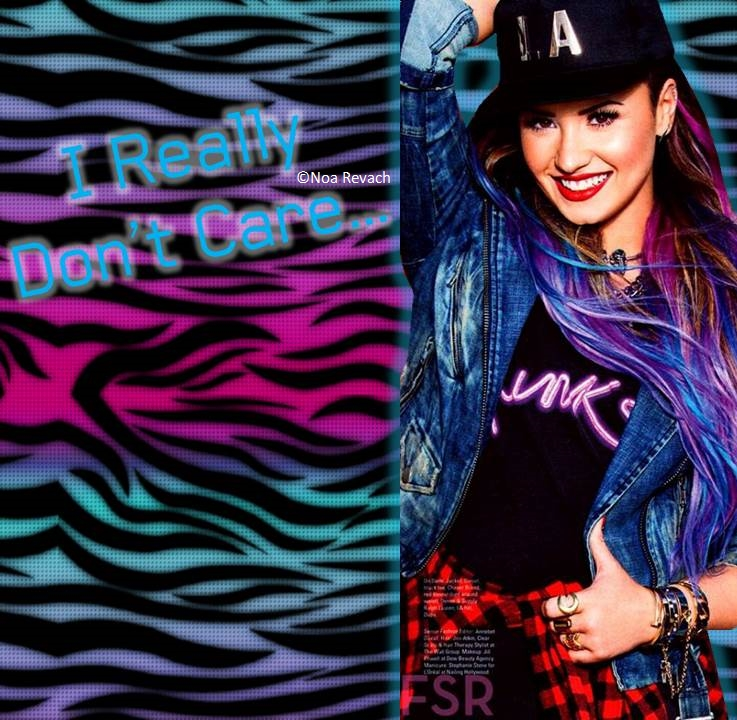 Demi Lovato Really Dont Care By Noadesigns