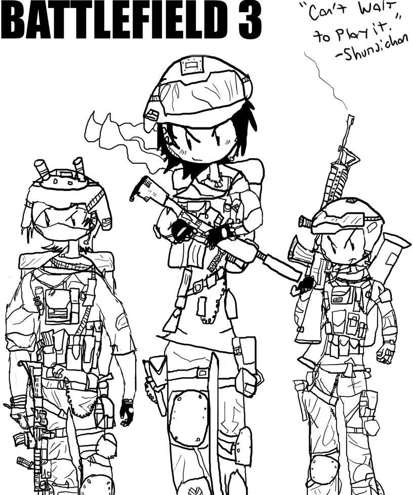Battlefield 3 Coloring Pages