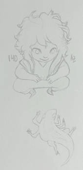 Azur Daily Sketch 140 - Salamander Toad