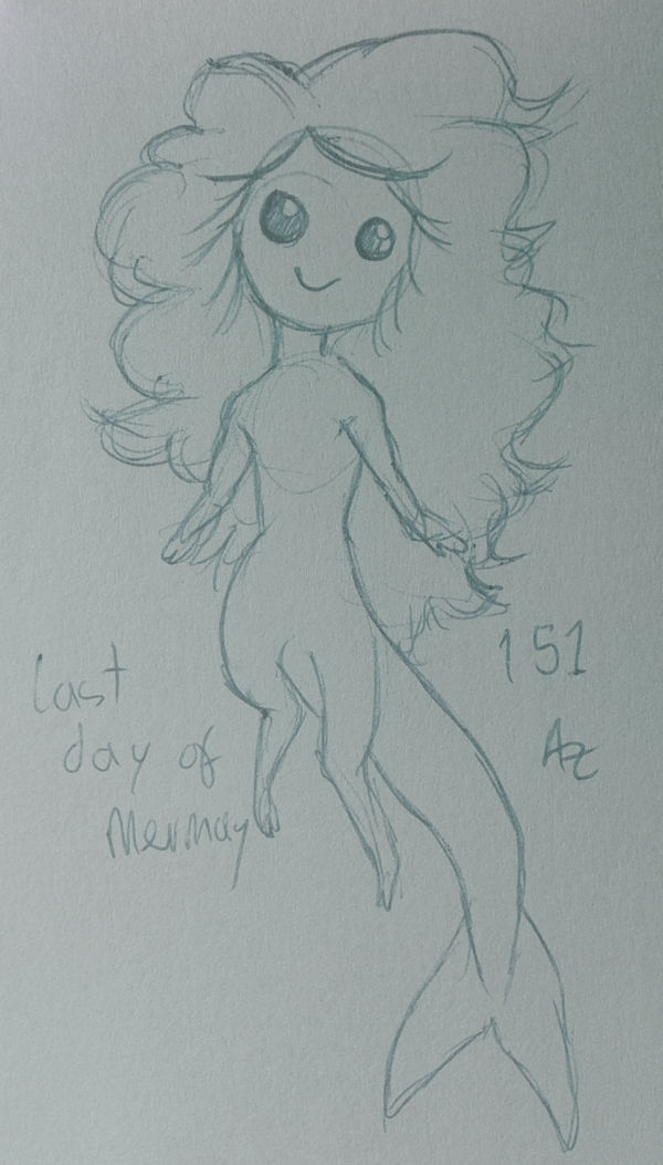 Azur Daily Sketch 151 - Last Day of MerMay