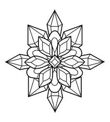 Crystal Flower Lineart