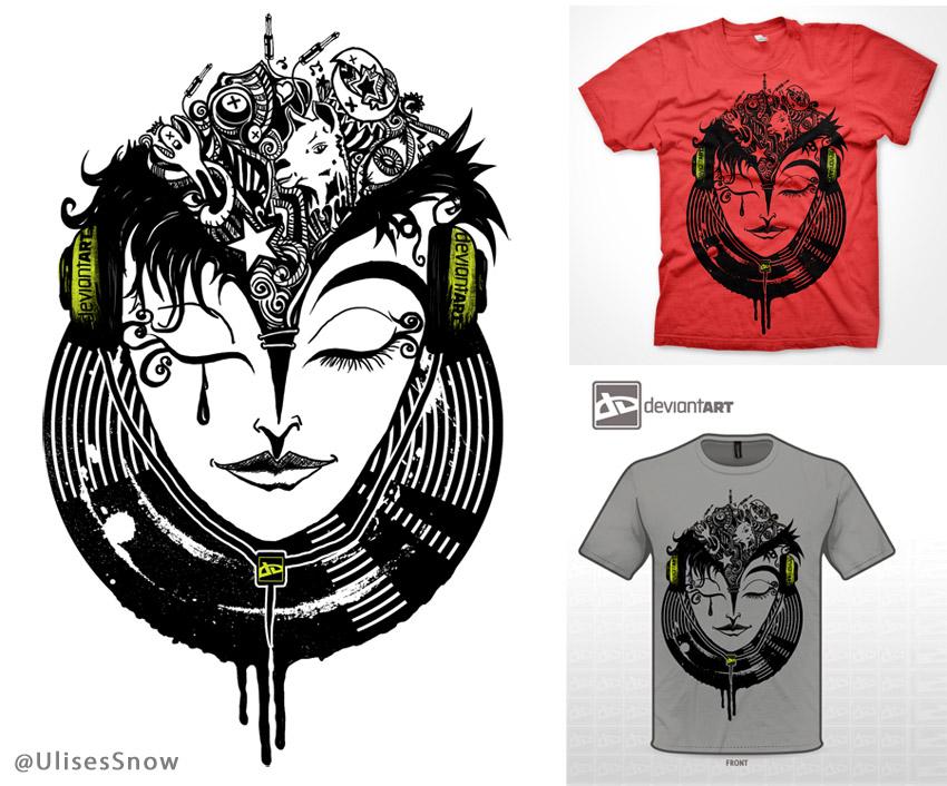 Art Music -Shirt Design UlisesBolivar by ulisesart2