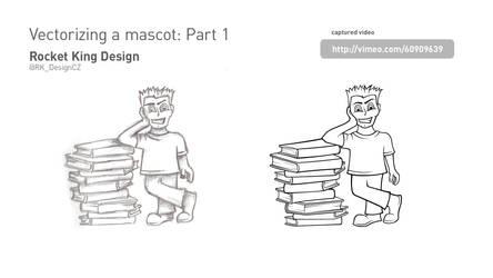 Vectorizing a mascot: Part 1