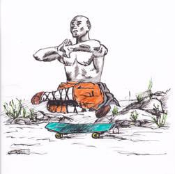 34 - Shaolin skater by KingOfRocket