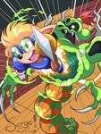 20160508 - Sparkster vs Snake Lord