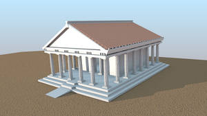 3D Greek Temple