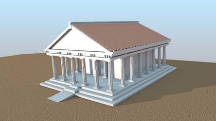 3D Greek Temple by Dark-Saron