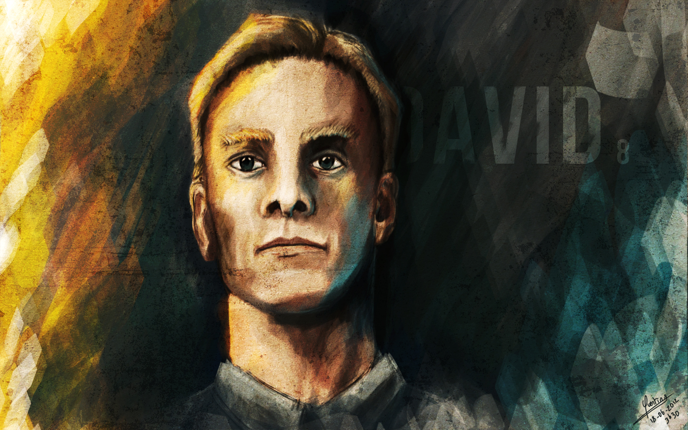 David 8 Speedpainting by QuentinGG