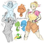 Human Angry Birds Sketches
