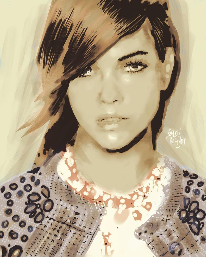 Portrait Study by Basilbu