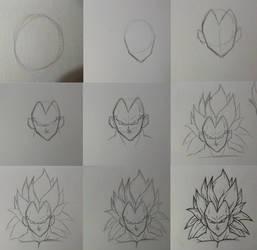 how to draw ssj3 Vegeta by rondostal91