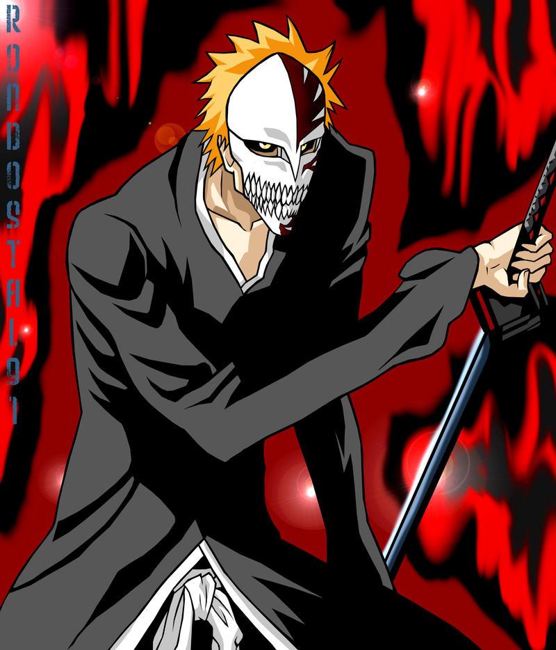 Hollow Ichigo Full Mask Color By Rondostal91 On DeviantArt
