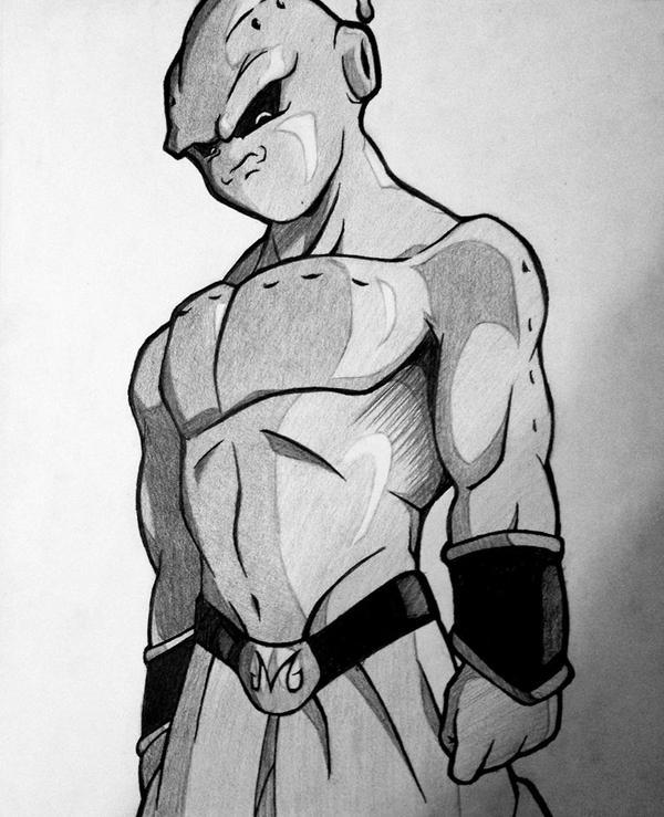 Kid Buu sketch by rondostal91