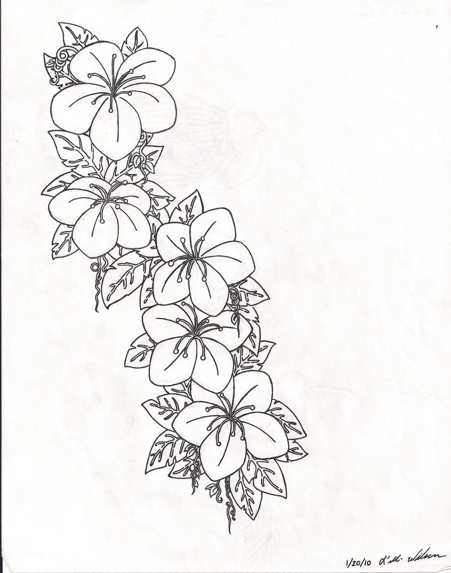 Line Art Flower Stencil Designs : Flower tattoo design by irish vampire on deviantart