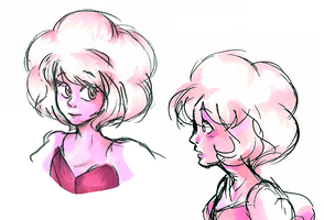 Pink Diamond doodles by StrangieSleepy