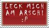 Leck mich am Arsch-Stamp by Infernal-Feline