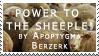 POWER TO THE SHEEPLE by Infernal-Feline