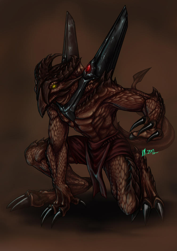 Draconian Warrior of Dark Horizon by Infernal-Feline