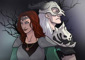 Diablo II: Sorceress and Necromancer by Infernal-Feline