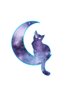 Space cat tattoo design (digital)