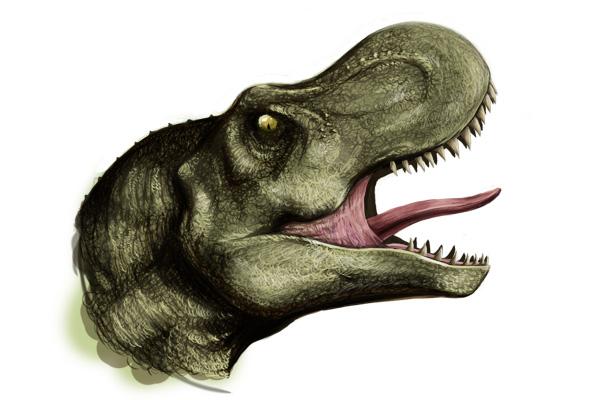 roaring T-rex head by andungen