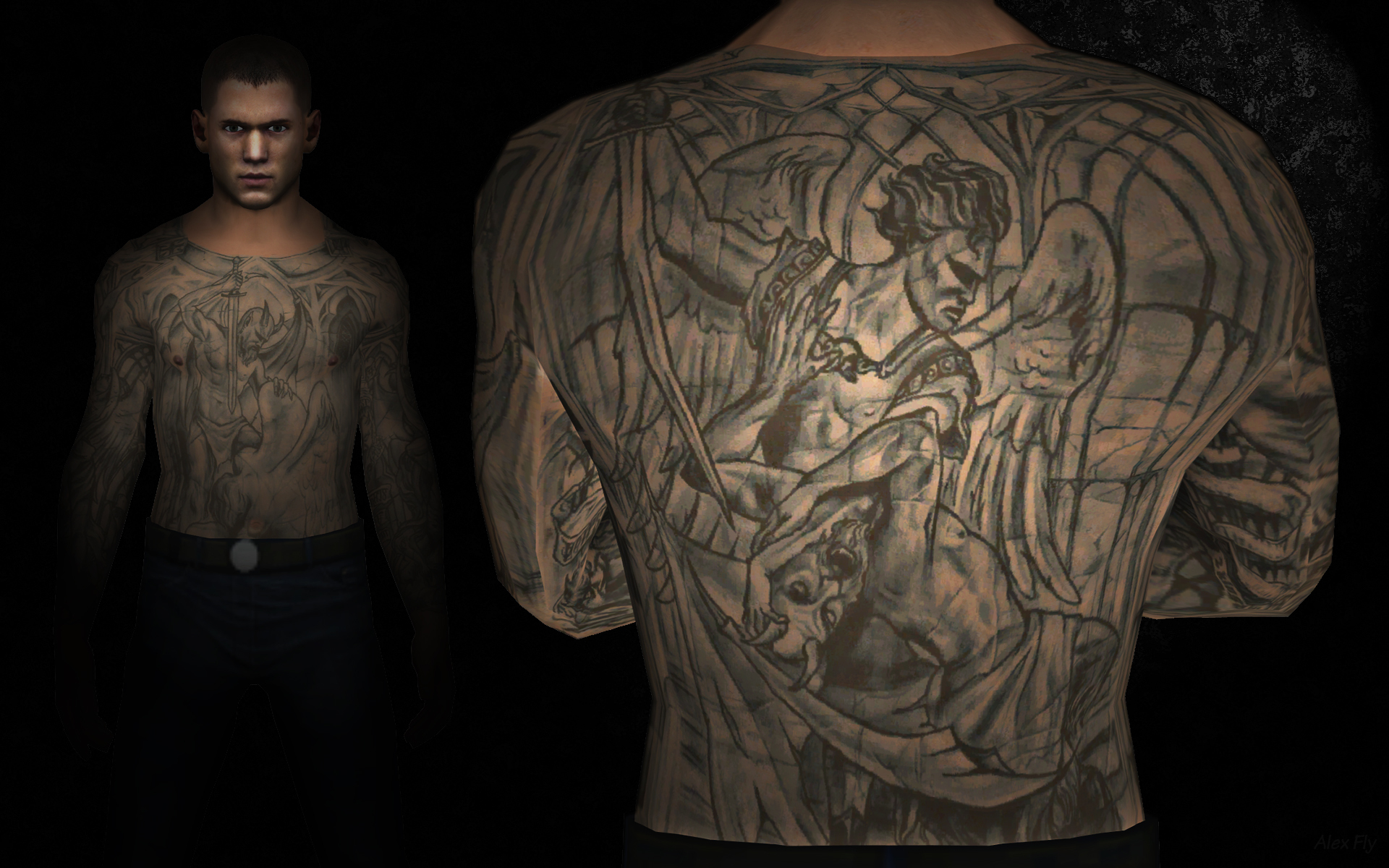 Prison break michael scofield by alexfly on deviantart for Prison tattoo pictures