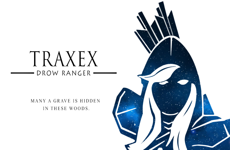 Drax Drow Ranger Galaxy Silhoutte by theBlacFlower