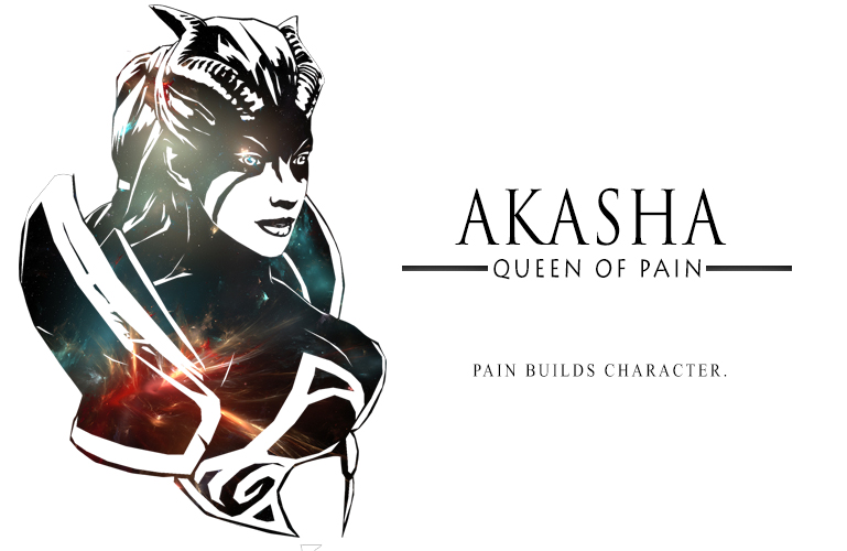 Queen of Pain Akasha Galaxy Color by theBlacFlower