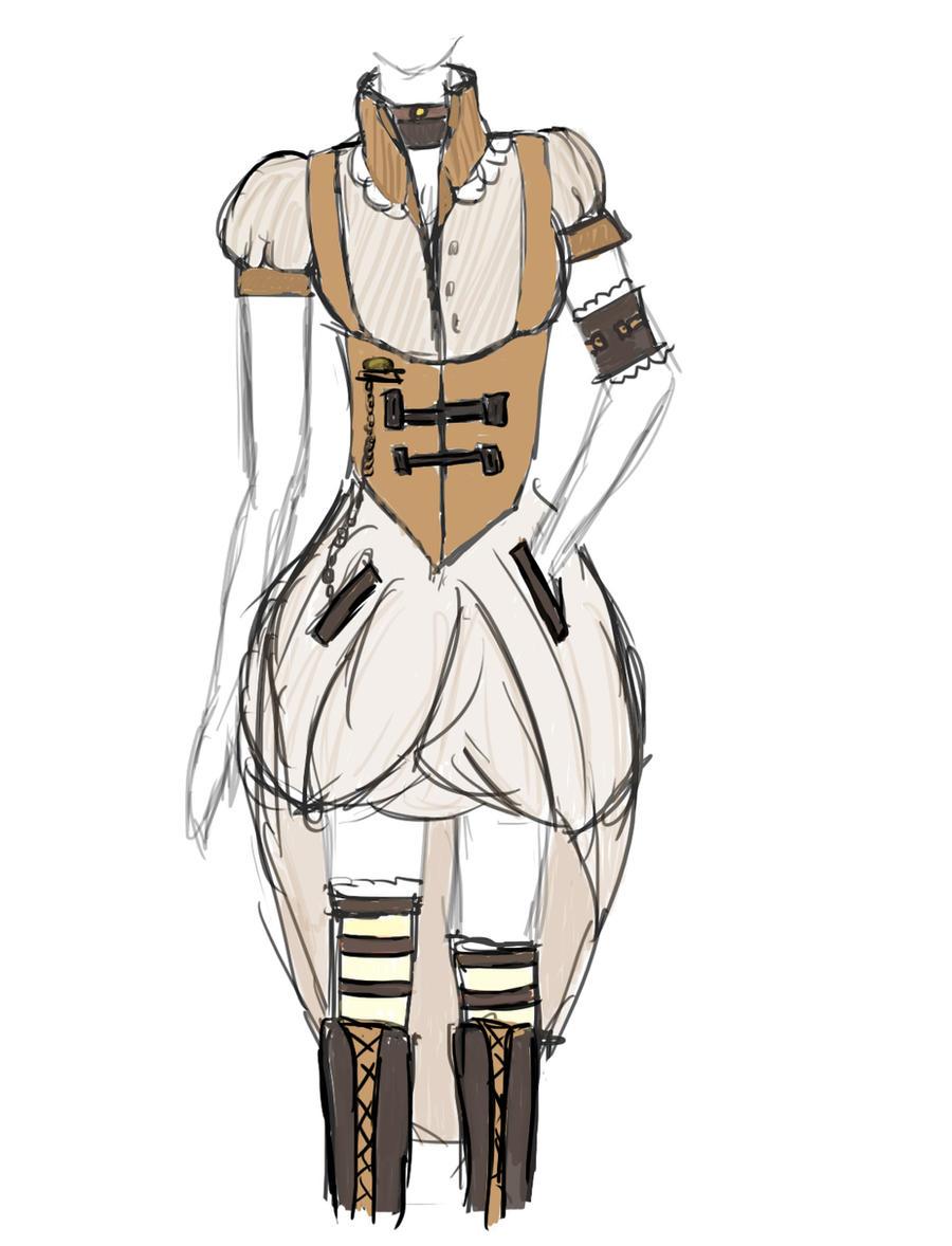 Steampunk dress. by BlackFrozenRose on DeviantArt