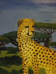 Cheetah in Oil by katwarrior