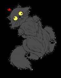 Caricature 1: Derpy Cat by katwarrior