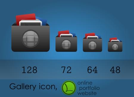 My website v3 gallery icon by lopagof on DeviantArt