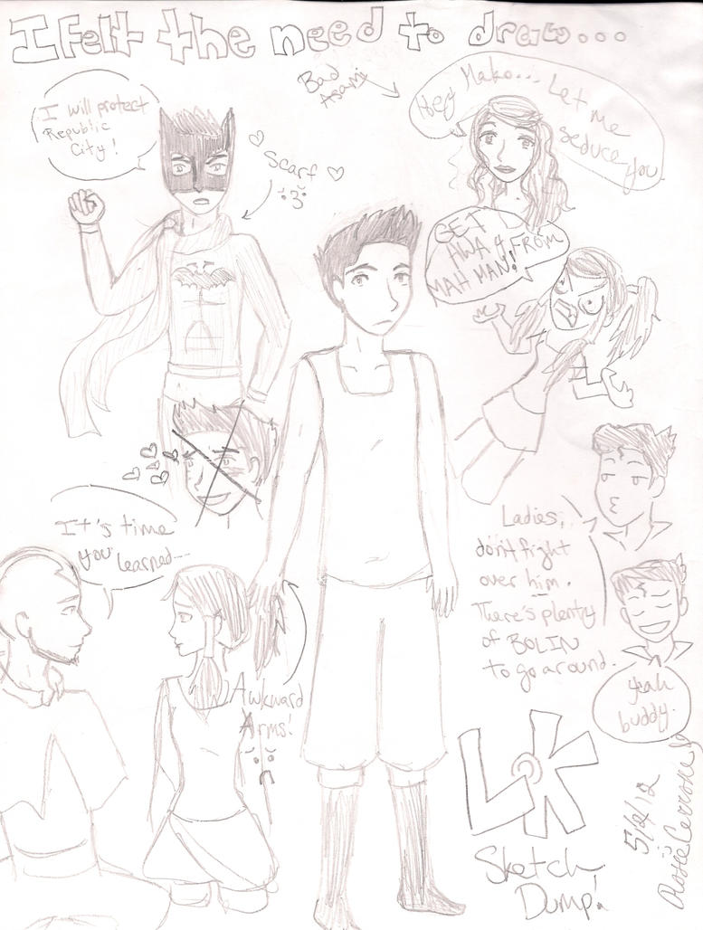 LoK Sketch Dump! :D by RosieMe