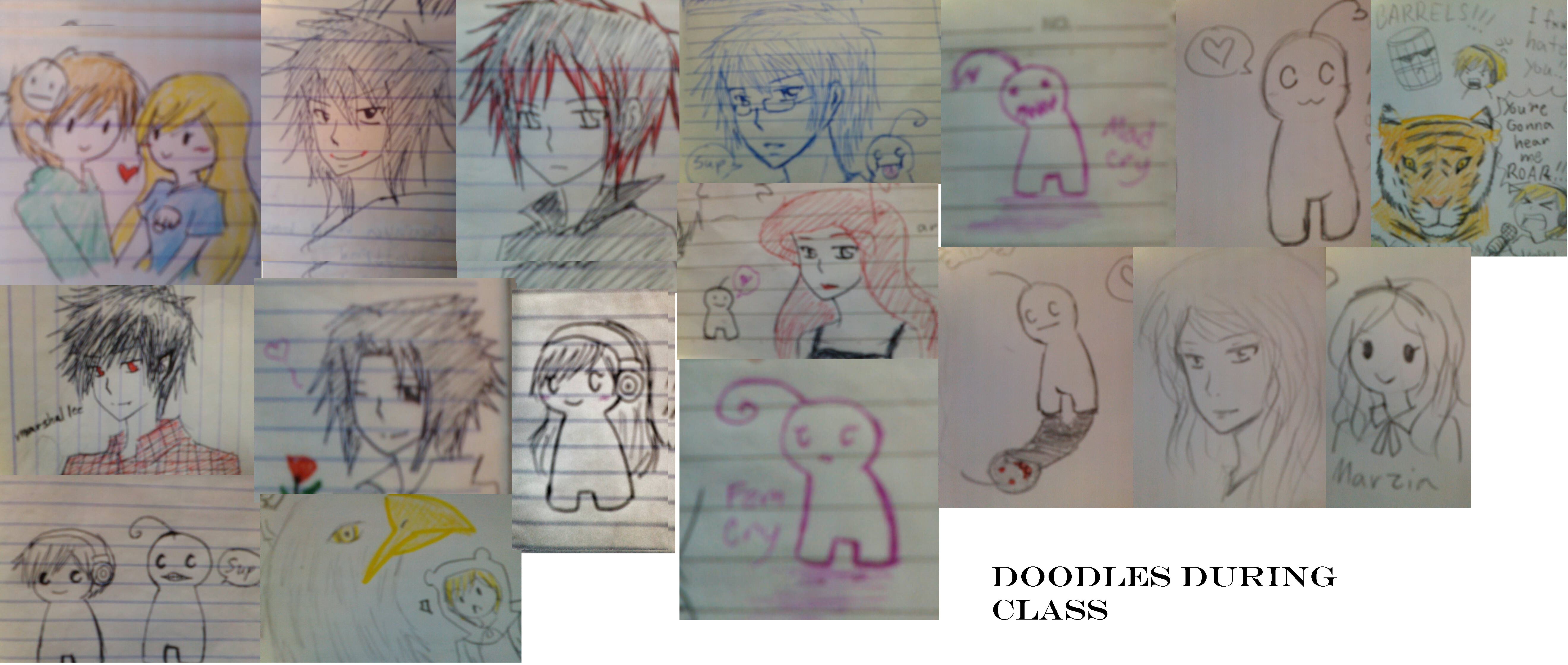 Doodles Drawing During Class By Florano On DeviantArt