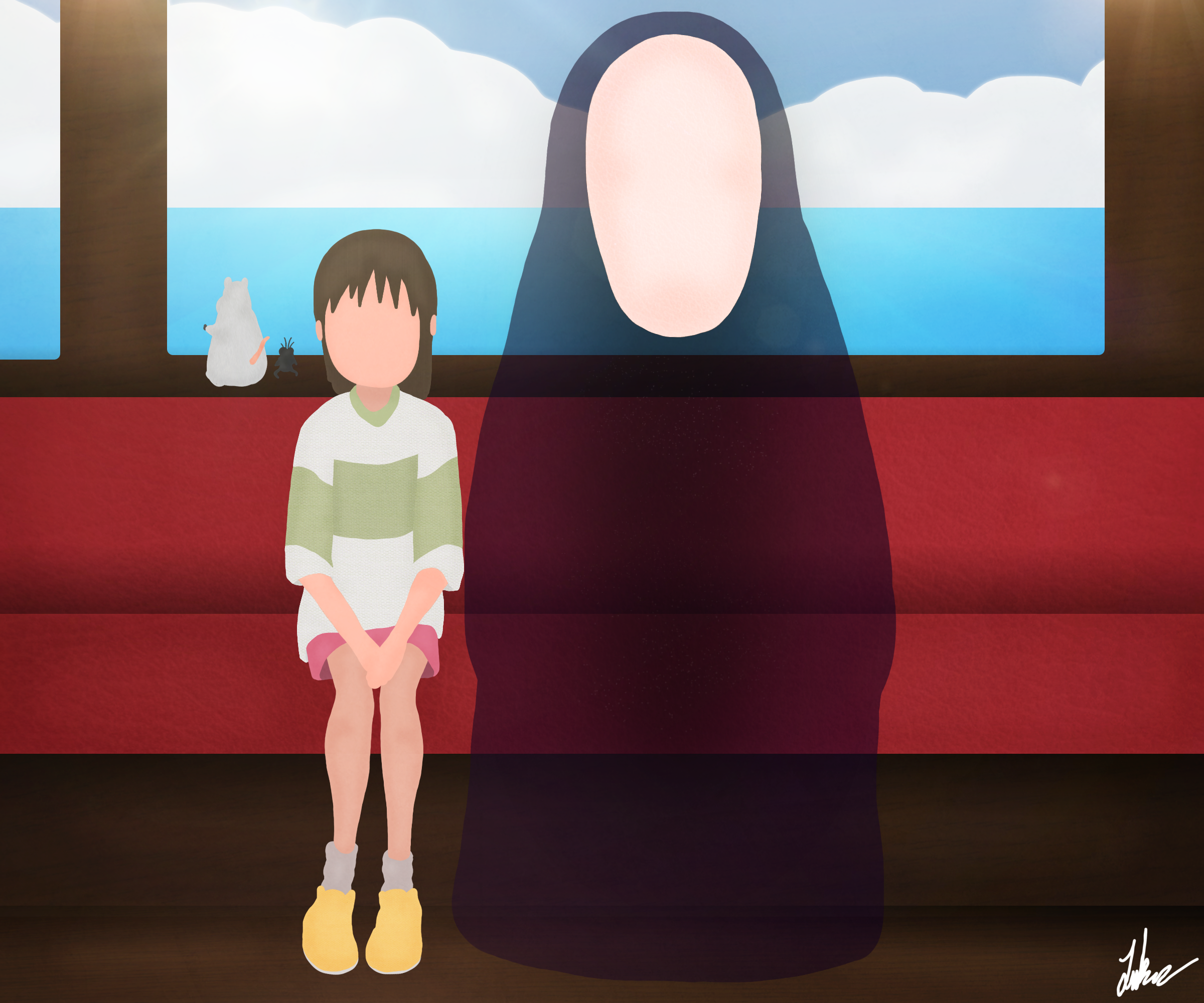 spirited away fanart noface by llamaboyproductions on