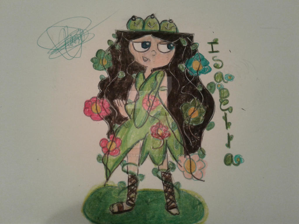 Isabella with the earth powers by Marieisawsome