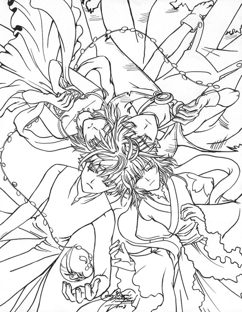 Syarans and Sakuras en circulo by LucyMeryChan on DeviantArt