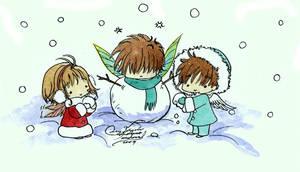 Snowman xD SyaoranSenji by LucyMeryChan