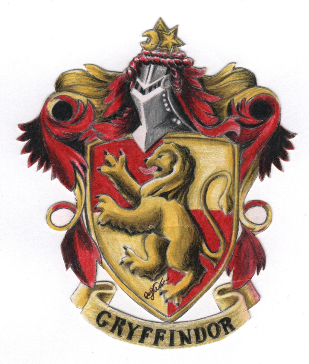an analysis of the painting of the gryffindor crest Gryffindor house crest wall art measures 8 x 11.